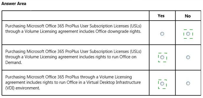 microsoft office volume license downgrade rights